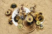 Clockwork Photos - Fragmented Clockwork In The Sand by Michal Boubin