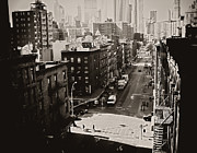 Classic Architecture Prints - Fragments of History - Above a New York City Street Print by Vivienne Gucwa