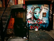 Nyc Graffiti Prints - Fragments - Street Art - New York City Print by Vivienne Gucwa