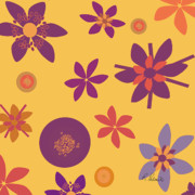 Fragrant Folly Orange Print by Ruth Palmer