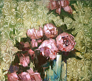 Oil On Canvas Painting Originals - Fragrant luxury. by Anastasija Kraineva
