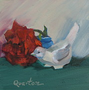 Porcelain Paintings - Fragrant Rose by Lori Quarton