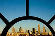 Charlotte Photo Prints - Framed Charlotte skyline Print by Patrick Schneider