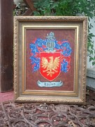 Family Coat Of Arms Art - Framed Graves Crest by Nancy Rutland