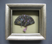 Spring Reliefs - Framed Hummingbird with Fushia by Brenda Berdnik
