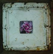 Roses Sculpture Metal Prints - Framed  Metal Print by Paul Autodore