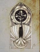 Religious Art Drawings - Framework to Ascension by Seth Chamberlin