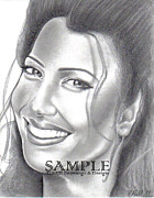 Business Cards Drawings - Fran Drescher by Rick Hill