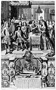 1704 Framed Prints - France: Baptism, 1704 Framed Print by Granger