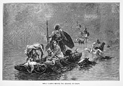 Gaul Prints - France: Gauls Fleeing Print by Granger