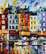 Yacht Painting Originals - France New Original by Leonid Afremov