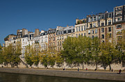 Residential Structure Prints - France, Paris, Ile De La Cite, Quai Des Orfevres In Autumn Print by Walter Bibikow