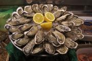 Enjoyment Photos - France, Paris Oysters On Display by Keenpress