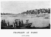 Benjamin Franklin Framed Prints - FRANCE: PASSY, c1780 Framed Print by Granger
