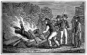 Anti Protestant Prints - France: Persecution, 1815 Print by Granger