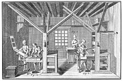 1751 Framed Prints - France: Print Shop, 1751 Framed Print by Granger