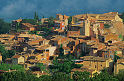 Roussillon Framed Prints - France, Provence, Vaucluse, Roussillon Village Framed Print by Bruno Morandi