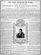 Handbill Framed Prints - France: Revolution Of 1830 Framed Print by Granger