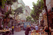 Street Market Prints - France Spring of 1981 Print by Thomas R Fletcher