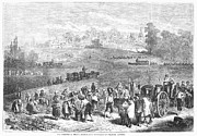 Medoc Metal Prints - France: Wine Harvest, 1871 Metal Print by Granger