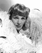 Ostrich Feathers Photo Prints - Frances Farmer, Ca. Late 1930s Print by Everett