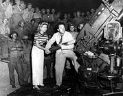 Artillery Photo Metal Prints - Frances Langford & Bob Hope Entertain Metal Print by Everett