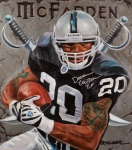 Football Paintings - Franchise by Jim Wetherington