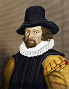 Francis Prints - Francis Bacon, English Philosopher Print by Maria Platt-evans