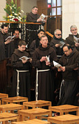 Praying Photo Originals - Franciscan Brothers at St. Catherine Church by Munir Alawi