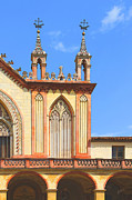 Entrance Door Digital Art Posters - Franciscan Monastery In Nice France Poster by Ben and Raisa Gertsberg