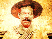 Mexican Revolution Prints - Francisco Villa Print by Juan Jose Espinoza