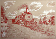 Railroads Drawings Framed Prints - Francois Framed Print by Thomas Hoyle