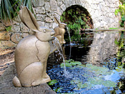 Wildlife Sculpture Acrylic Prints - Francois-Xavier Lalanne Bunnies Acrylic Print by Rosie Brown