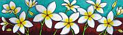 Lisa Lorenz Painting Metal Prints - Frangipani Delight Metal Print by Lisa  Lorenz