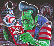 Frankenstogy Prints - Frank and Bride Print by Ben Von Strawn