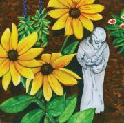 St. Francis Paintings - Frank and Susan by Laura Brightwood