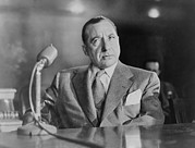 Italian-americans Framed Prints - Frank Costello 1891-1973, Testifying Framed Print by Everett
