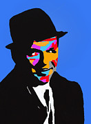 Ratpack Prints - Frank Feeling Blue Print by Robert Margetts
