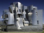 Modernist Prints - Frank Gehry Designed The Frederick R Print by Everett