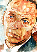 Frank Sinatra Framed Prints - Frank  Framed Print by Marcelo Neira