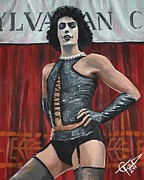 Tim Painting Metal Prints - Frank-N-Furter Metal Print by Tom Carlton