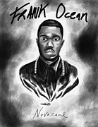 Drawings Of Frank Ocean Posters - Frank Ocean Novacane Inspired Poster by Kenal Louis
