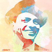 Jazz Posters Posters - Frank Sinatra Poster by Irina  March