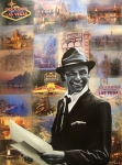 Paris Painting Metal Prints - Frank Sinatra Metal Print by Ryan Jones