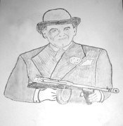 Gangster Drawings - Frank The Enforcer Nitti by Tom Zukauskas
