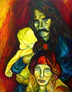 Guitarists Paintings - Frank Zappa   by Carole Spandau