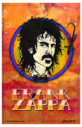 Gibson Sg  Digital Art Posters - Frank Zappa Poster by John Goldacker