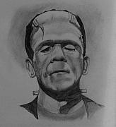 Boris Drawings - Frankenstein Boris Karloff by Chris Reynolds