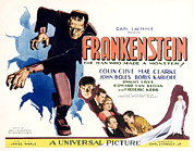 Lobbycard Framed Prints - Frankenstein, Boris Karloff, John Framed Print by Everett