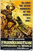 Horror Movies Framed Prints - Frankenstein Conquers The World, Aka Framed Print by Everett
